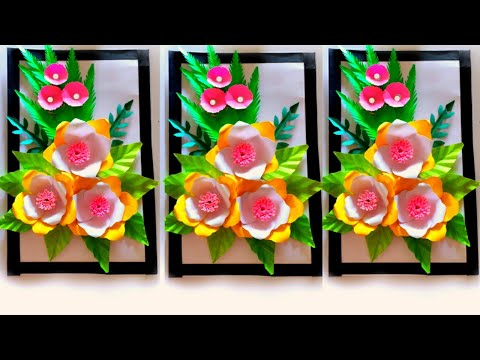 Flower Frame Wall Decoration ❤❤👌👌👌 / Paper Flower Frame Wall Hanging