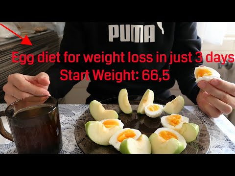 Egg diet for weight loss in just 3 days