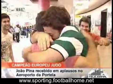 Judo :: João Pina Campeão Europeu [-73kg] 2010 - Recepção no Aeroporto