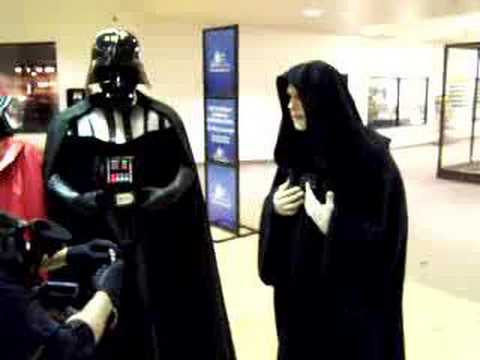 Darth Sidius gets arrested - Darth Sidious gets arrested for the destruction of Alderan. We just made this skit on the spot while taking a break at the mall.