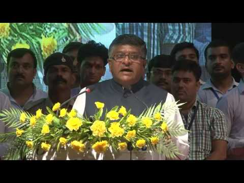 HONOURABLE MINISTER, SHRI RAVI SHANKAR PRASAD AT BIHAR VLE CONFERENCE - June 23, 2016, Patna, Bihar