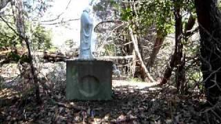 韮山反射炉近く伊豆山中奥深くに眠る、不気味なマリア観音像群。 完全突...