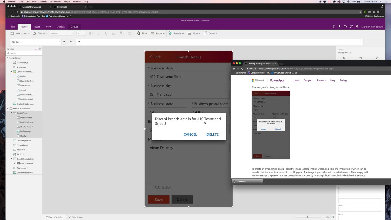 Design Series | Creating Dialog Boxes in PowerApps