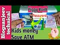 Piggy bank | kids save money with new - Mini ATM Machine Coin Box Unboxing and Review 2018