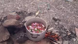 Preparando sudado de pescado