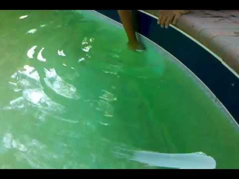 swimming pool metal stain removal youtube