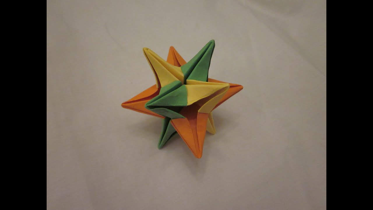 How to make origami Snow Maiden. Modular origami scheme 55