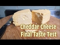 Cheddar Cheese Final Taste Test