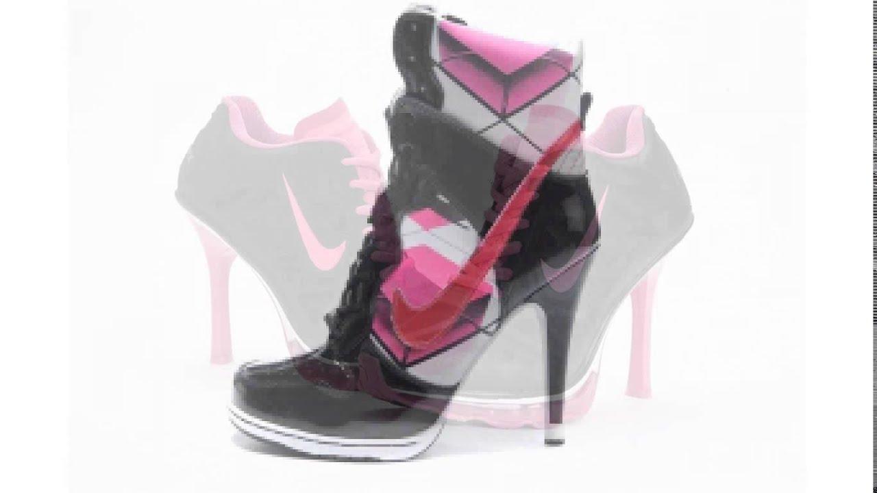 Women Nike High Heels Shoes White-Pink  Nike-1669