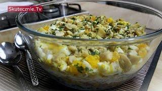 Warstwowa sałatka z ryżem, szynką i jajkiem :: Skutecznie.Tv [HD]