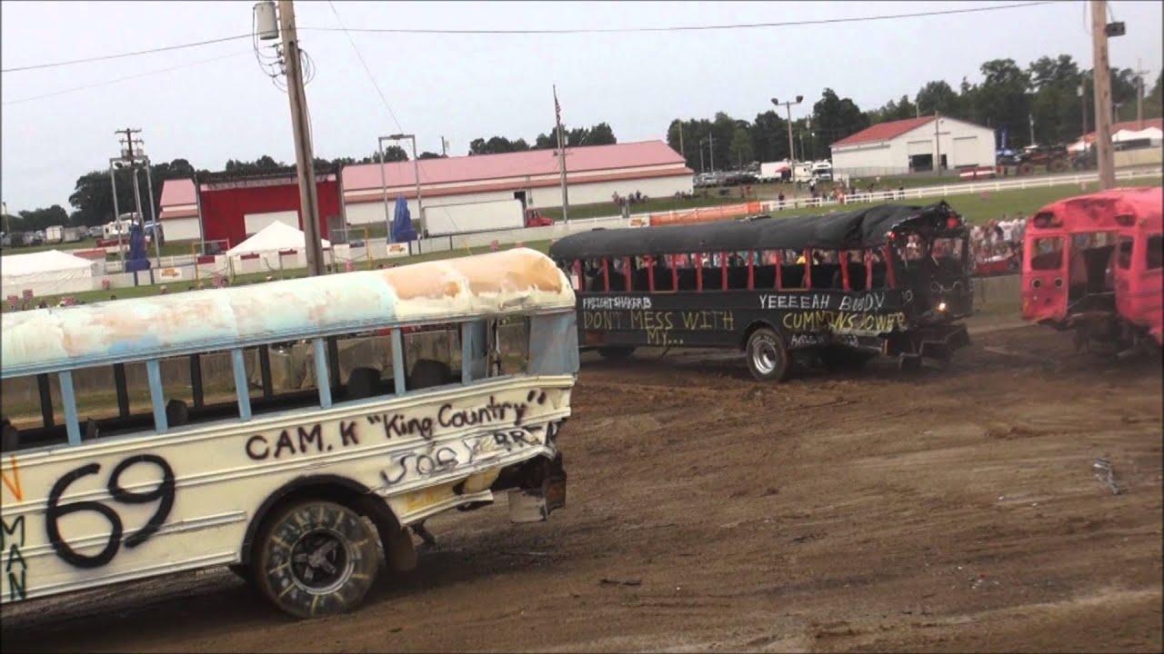 School Bus Demolition Derby 2015 Big Butler Fair Doovi