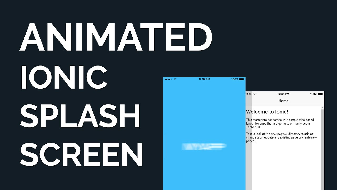 Make an Animated Ionic Splash Screen via HTML/CSS