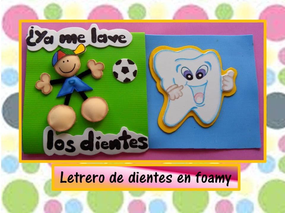 ♥♥Letrero de dientes en foamy♥♥_ CREACIONES mágicas♥♥ - YouTube