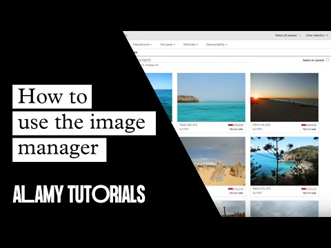 Alamy Image Manager - Help video overview