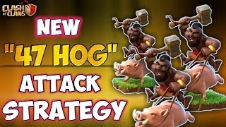 47 HOG vs MAX TH10 | New Th10 STRONG 3 Stars War Attack Strategy | Clash Of Clans