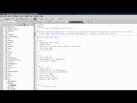 Part 1 - Codeigniter Tutorial - Creating A Web Chat App using JQuery AJAX