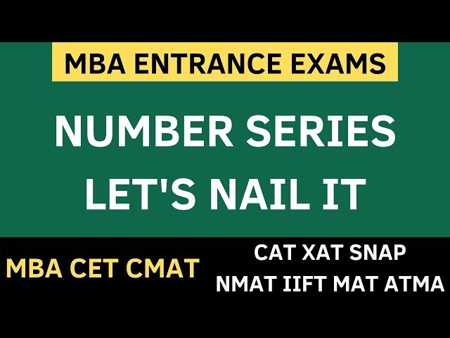 MBA CET 2020 - NUMBER SERIES BASICS | SOLVED EXAMPLES + FREE PDF