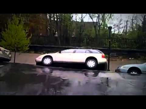 Crazy Baltimore Landslide Eats Cars!