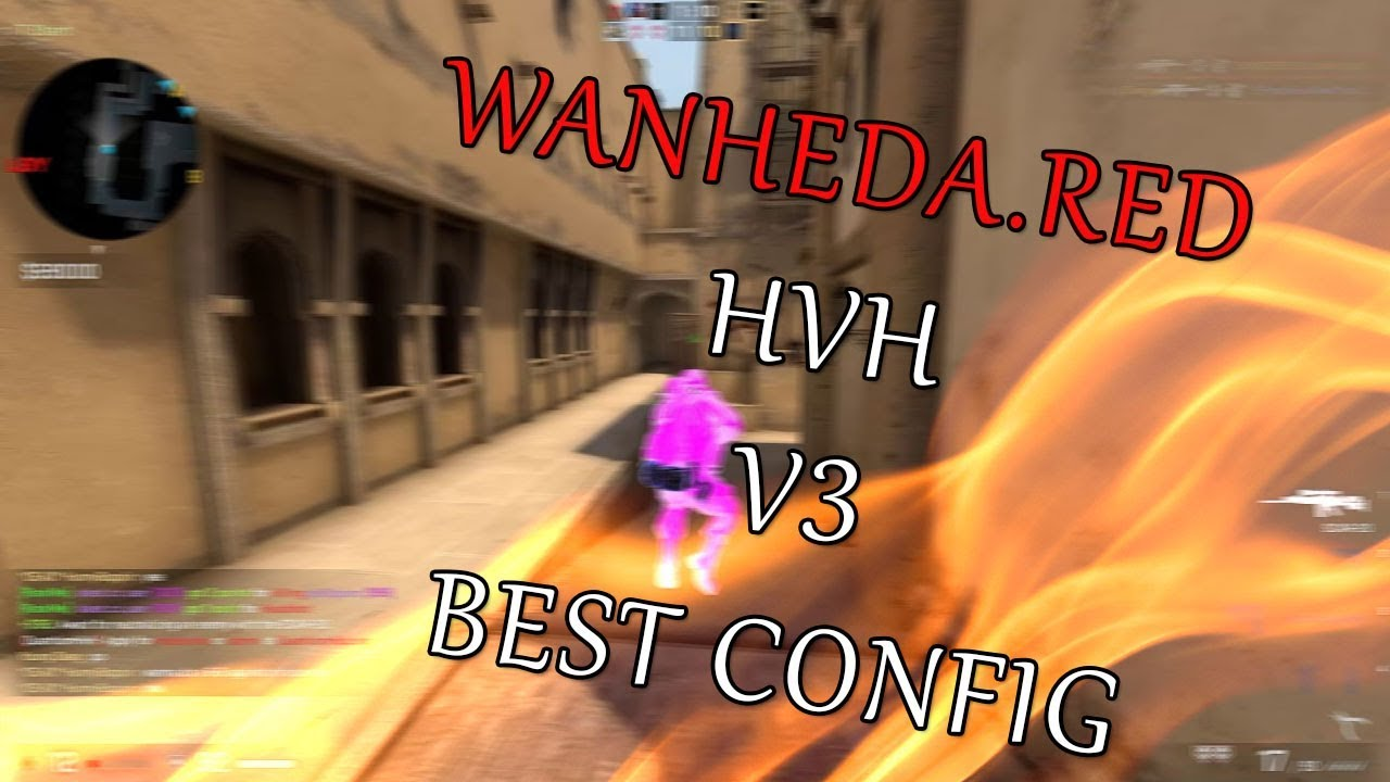 CS:GO HVH FT WANHEDA RED TAPPED AIMWARE V3 DLL+NEW CONFIG !
