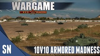 Wargame: Red Dragon Gameplay 10v10: ARMORED MADNESS