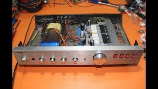 how to make amplifier? update old sony amplifier, how to repair old sony amplifier? electronics
