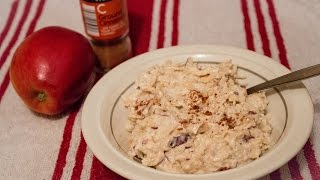Apple And Cinnamon No Cook Overnight Porridge