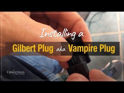 Installing a Gilbert Plug aka Vampire Plug on customized Christmas light cords