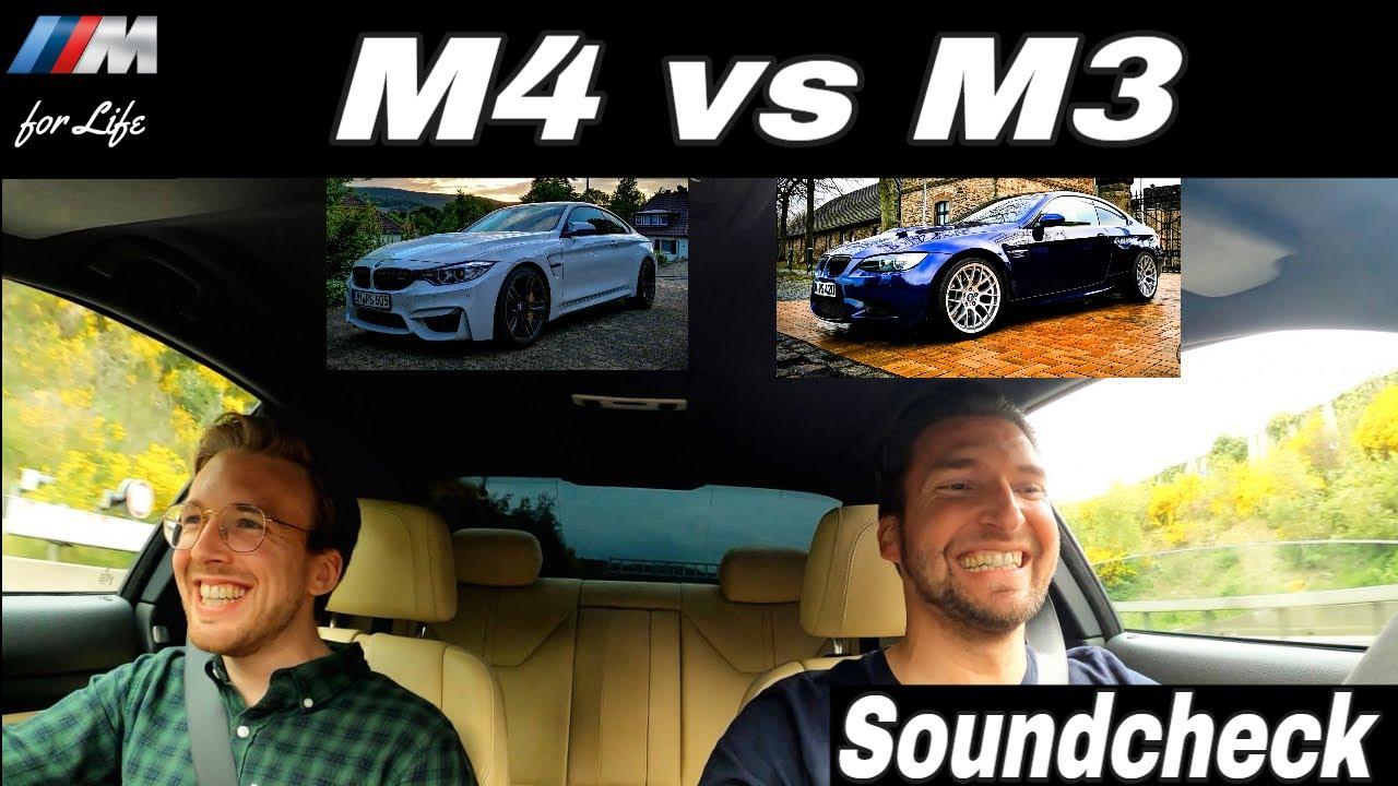 BMW E92 M3 420 PS vs F82 M4 600 PS (517 PS) | Vergleichsfahrt mit Phillip