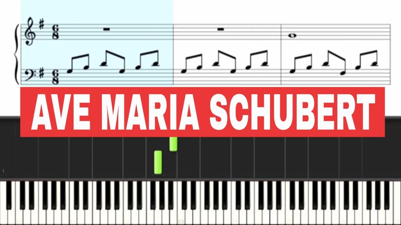 Ave Maria - Piano Easy (SLOW speed) - BEGINNER - YouTube