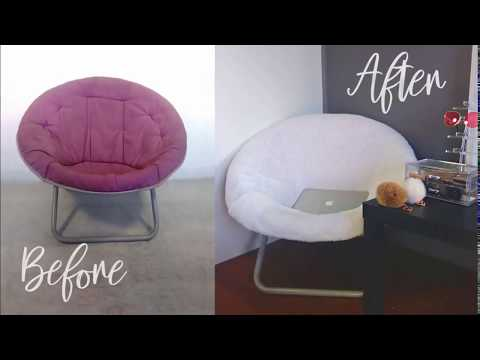 DIY White Furry Circle Chair By Chic Craze