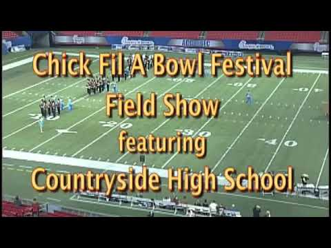 Countryside High School marching band reflections of the Blue Frontier Chick-fil-A