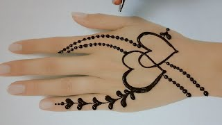 Amazing Heart Shape Jewellery Mehndi Design ll Mehndi Design For Back Hand ll Mehndi Designs