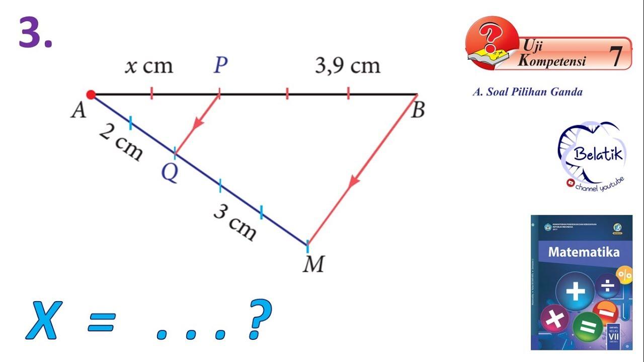 Contoh Soal Matematika Perbandingan Ruas Garis Pada Segitiga Rismax
