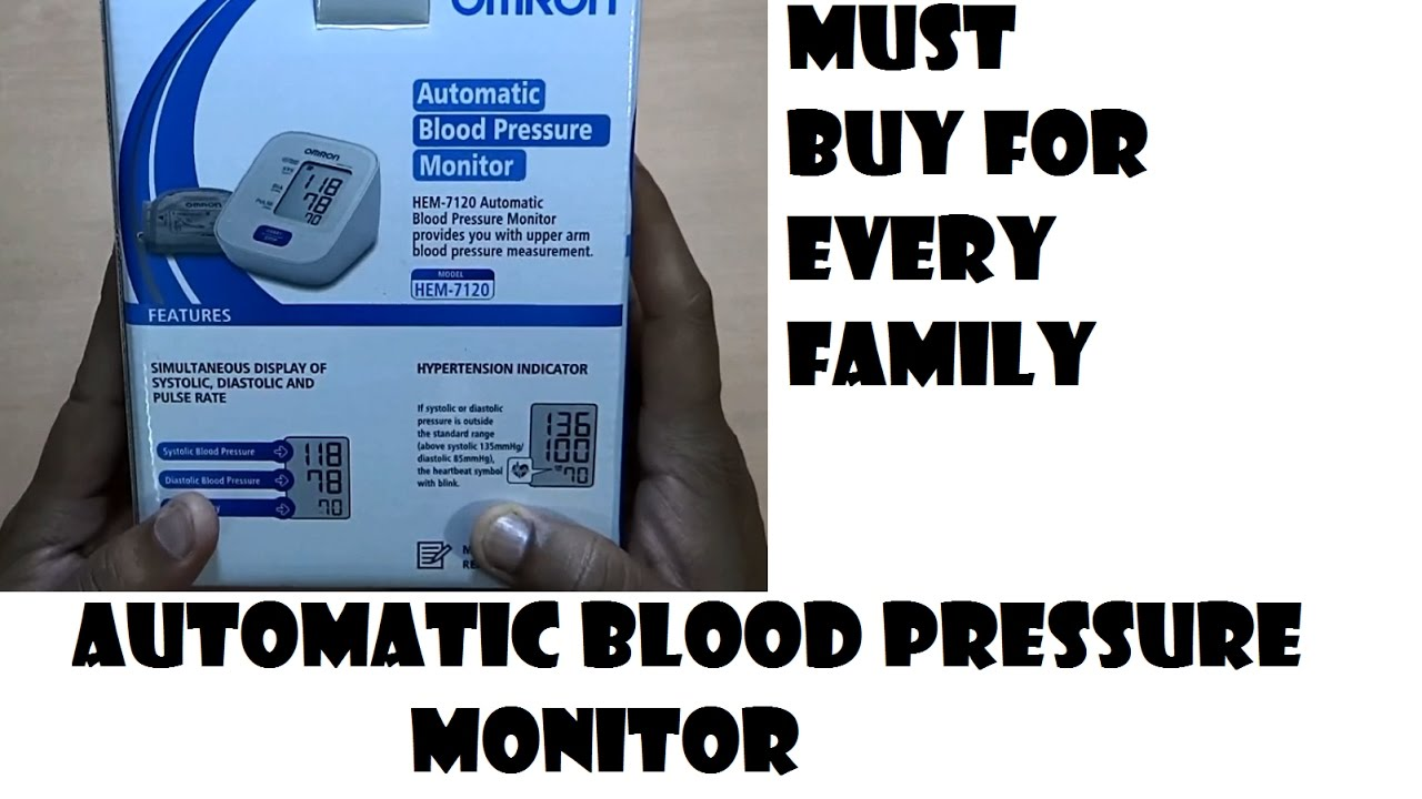 Omron Automatic Blood Pressure Monitor How To Use Youtube