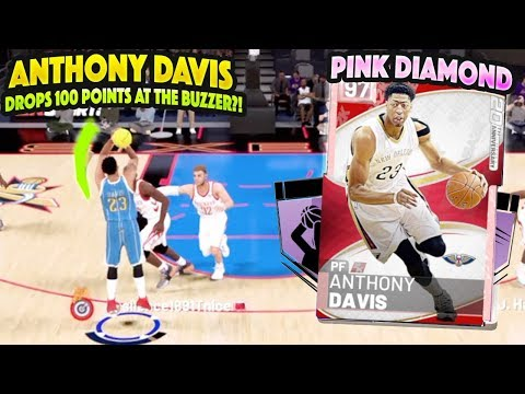 PINK DIAMOND ANTHONY DAVIS DROPS 100 POINTS AT THE BUZZER!?! BEST CARD IN THE GAME!!?! NBA 2K19