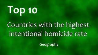 Top 10: Countries with the highest murder rate