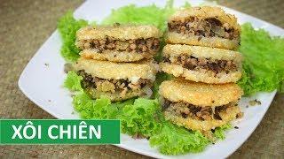 How to make Vietnamese fried sticky rice   Vietnamese Food