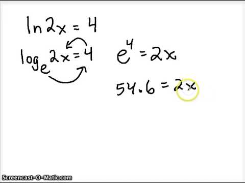 Write The Expression Using Only Natural Logarithms