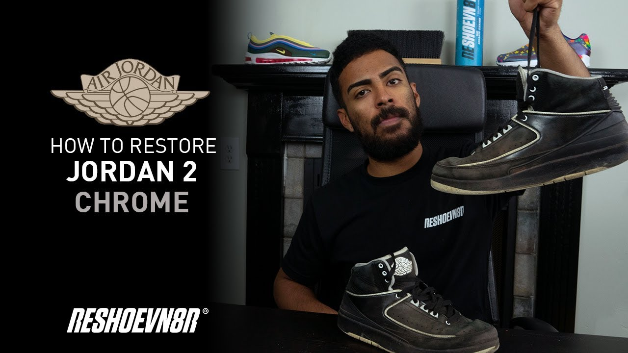 watch 7c11e 1afb9 Vick Almighty Restores Air Jordan 2 Chrome with Reshoevn8r!