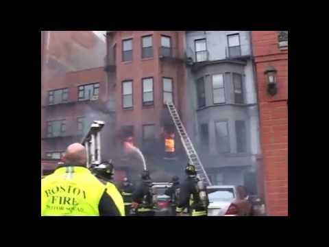 Tribute to the Boston Fire 3-26-14 Beacon Street.