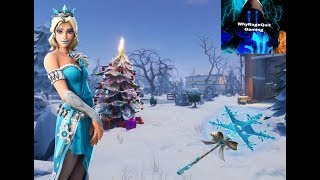 *New Glimmer Skin & Frozen Skin Bundle* Fortnite live Game Play! 200 sub grind! All Snow Map!