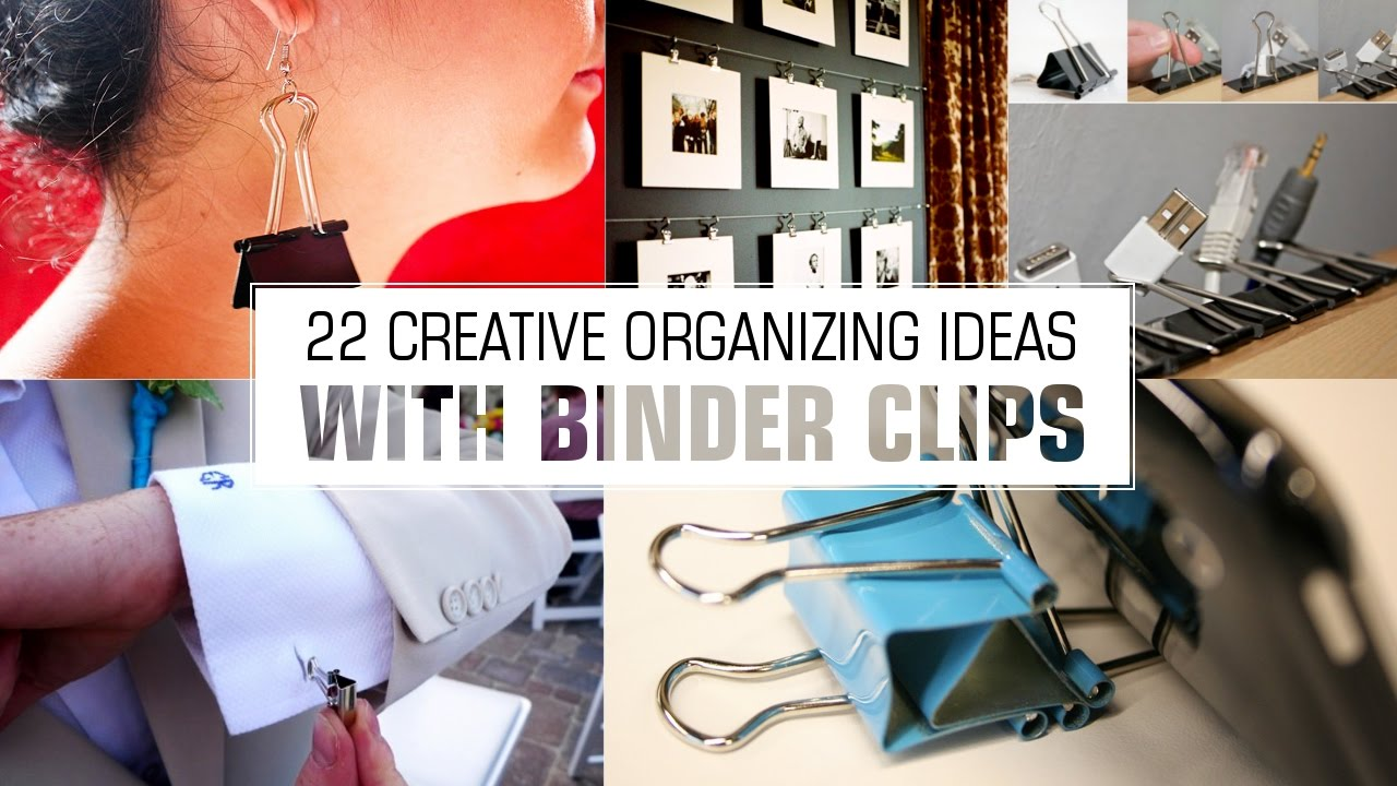 22 Organizing ideas with Binder Clips - YouTube