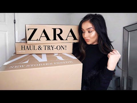 HUGE NEW IN ZARA HAUL || AUTUMN / WINTER UNBOXING & TRY-ON
