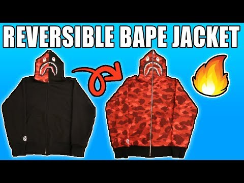 BAPE REVERISBLE SHARK JACKET UNBOXING & REVIEW