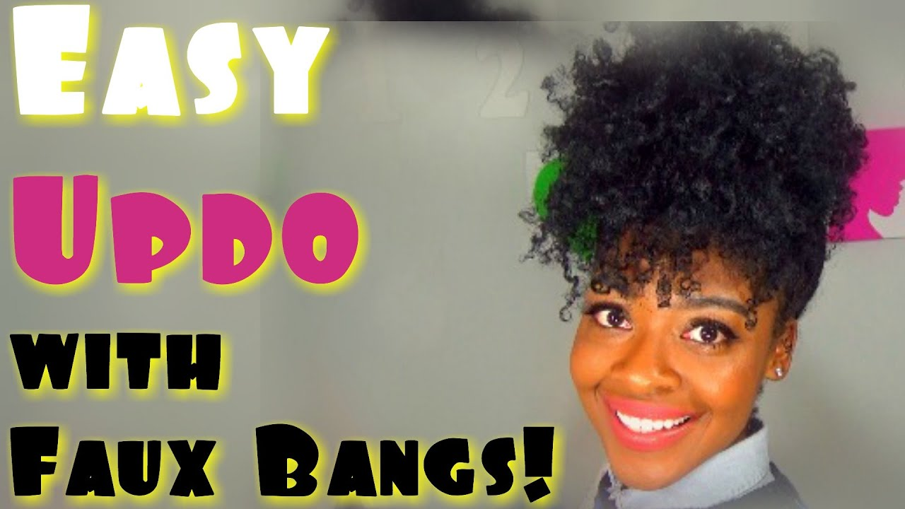pineapple updo natural hairstyles