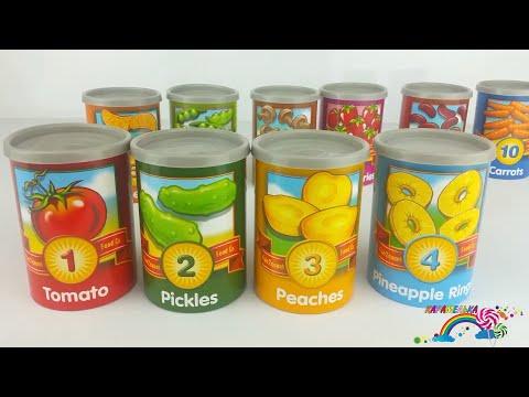 Вчимося рахувати українською. Вчимо цифри. Фрукти для дітей. Овочи для дітей. Навчальне відео