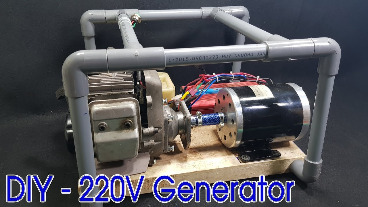 how to make 220v dynamo generator using 2 stroke engine youtube. Black Bedroom Furniture Sets. Home Design Ideas