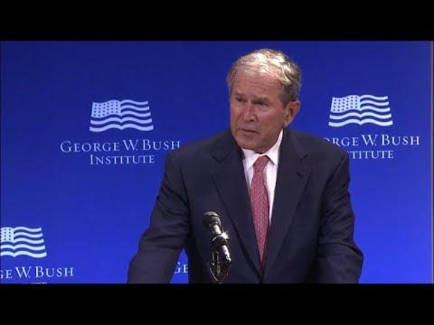 George W. Bush slams Trump-era politics
