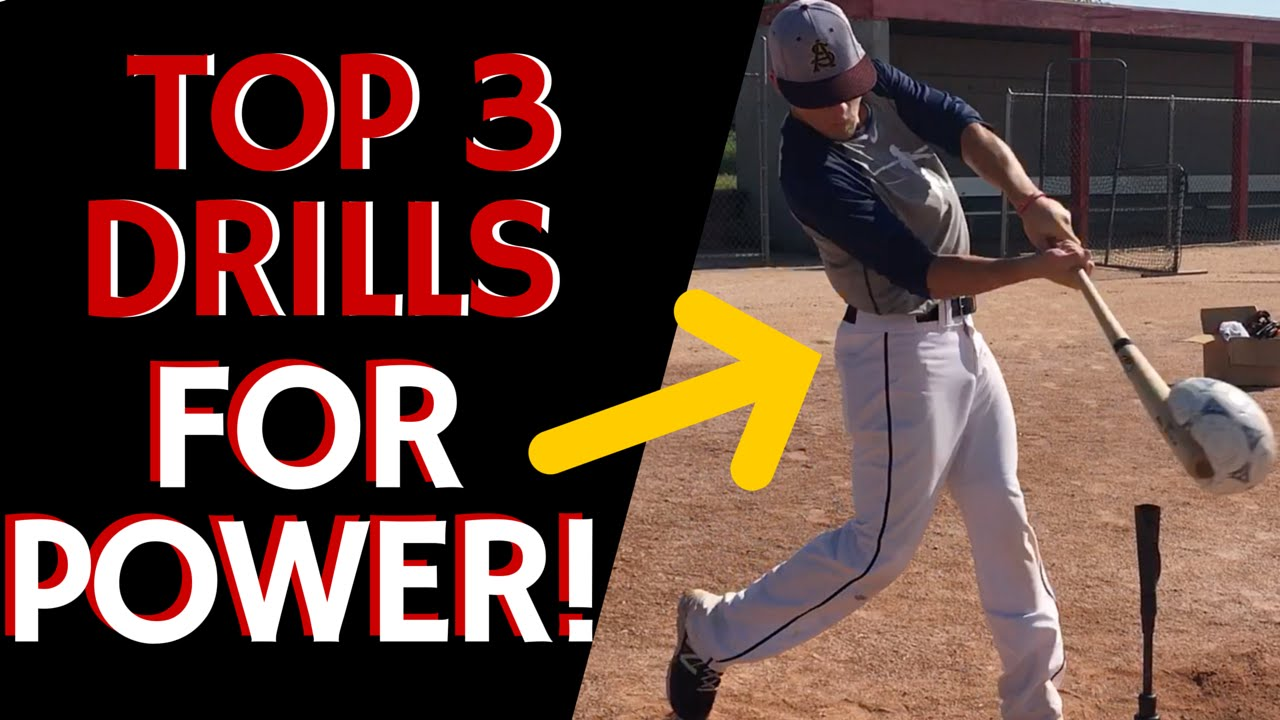 Top 3 Drills for Power! - Baseball Hitting Drills - YouTube