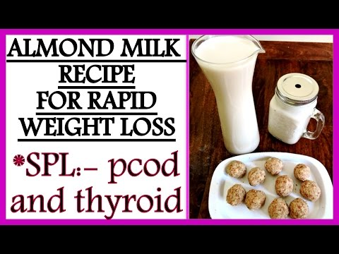 How To Make Almond Milk Recipe for Easy Weight Loss   Almond Milk for PCOD & Thyroid   Fat to Fab